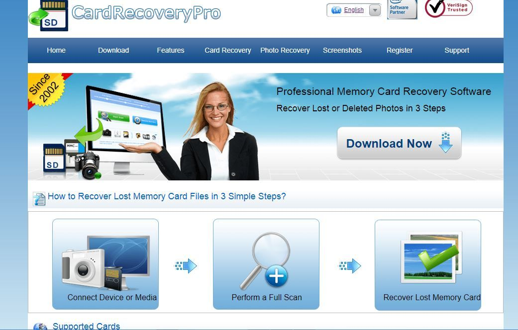 Professional memory card recovery software free quickly