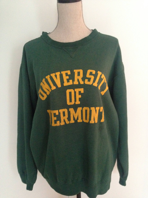Vintage University Of Vermont 90s Sweatshirt Sweatshirts College Sweater 90s Sweatshirt [ 3000 x 2250 Pixel ]