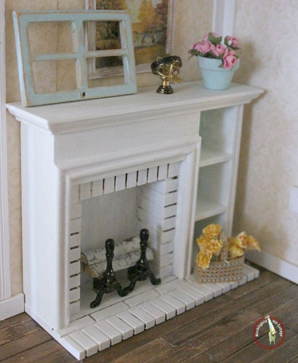 dollhouse miniatures fireplace miniature puppen puppenstube und miniatur m bel. Black Bedroom Furniture Sets. Home Design Ideas