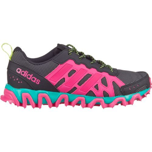 Adidas Girls' Incision Trail Running Shoes (Core Black/Shock Pink/Solar  Yellow