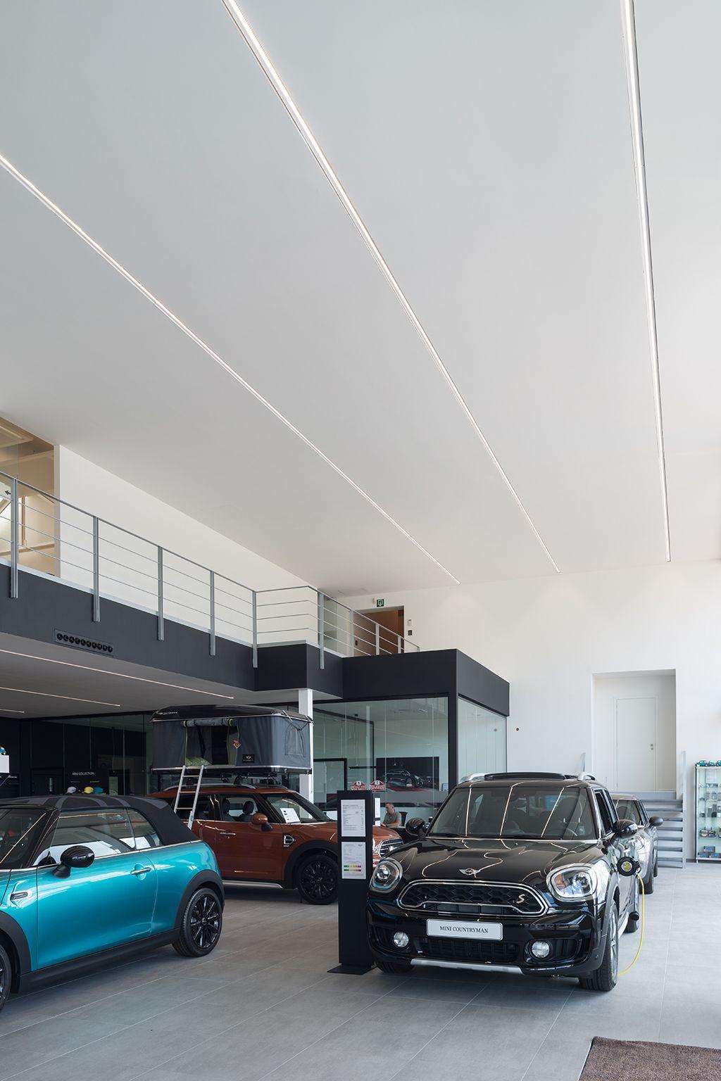 Supermodular Drupl Lighting At A Car Showroom In 2019