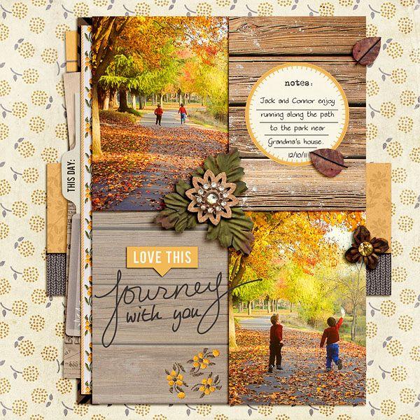 FALL Autumn Season Scrapbooking Border Scrapbook Album Creative Kids leaf leaves