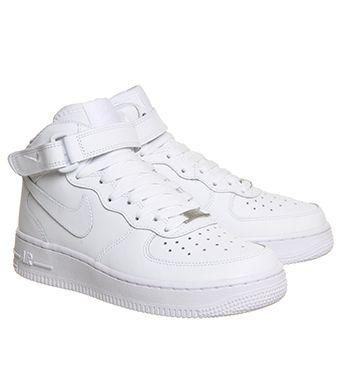 Buy White Nike Air Force 1 Mid from OFFICE.co.uk. | Jordan