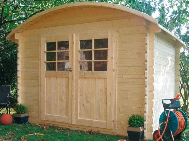Abri de jardin bois toit arrondi oogarden | Roulottes, Cabanes ...
