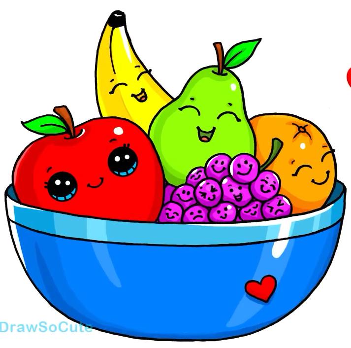 Fruit Bowl Cute Food Drawings Cute Kawaii Drawings Kawaii Doodles