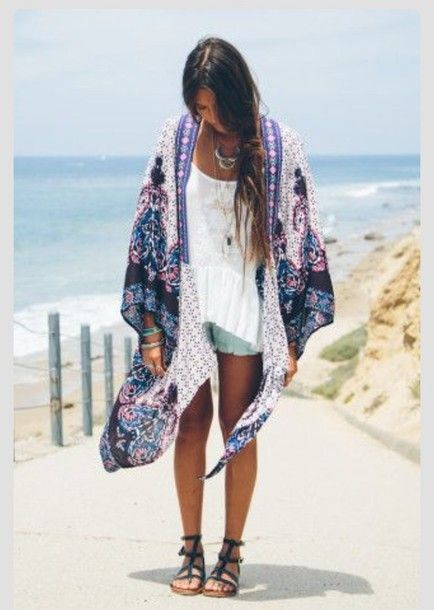 top kimono boho boho chic style fashion cardigan hippie ...