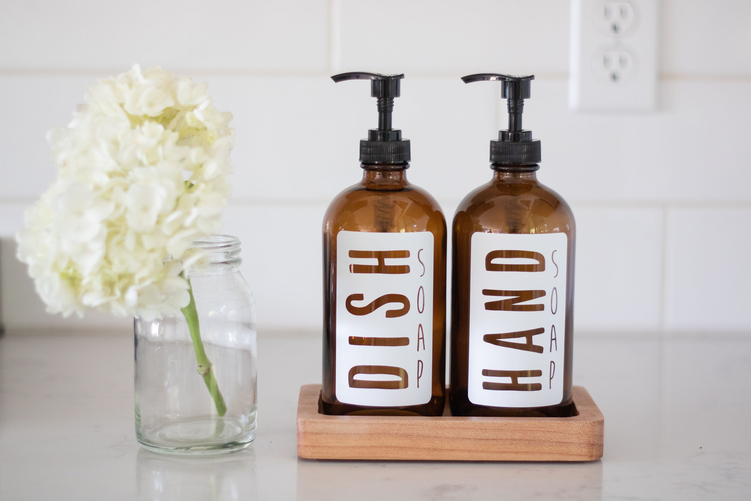 Amber Glass Hand And Dish Soap Dispenser Set Hand And Dish Etsy Dish Soap Dispenser Kitchen Soap Dispenser Glass Soap Bottle