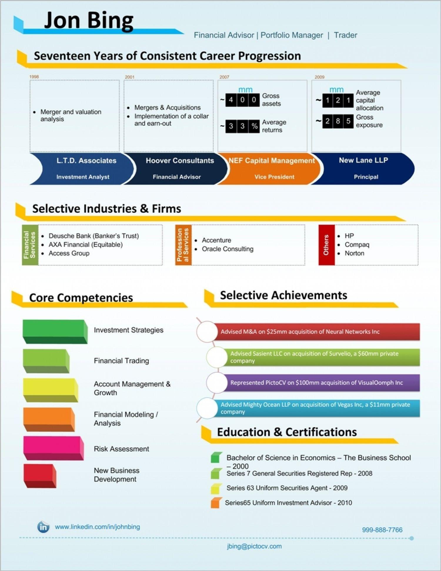 Cv template visual visual resume infographic resume