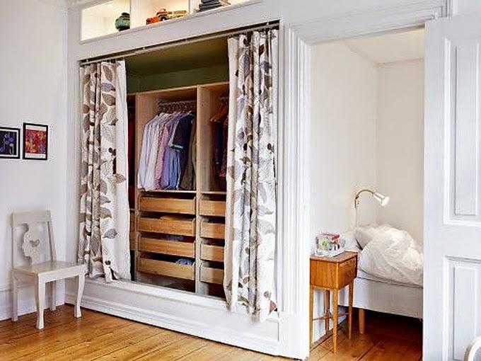 ideas para un armario low cost poner cortinas