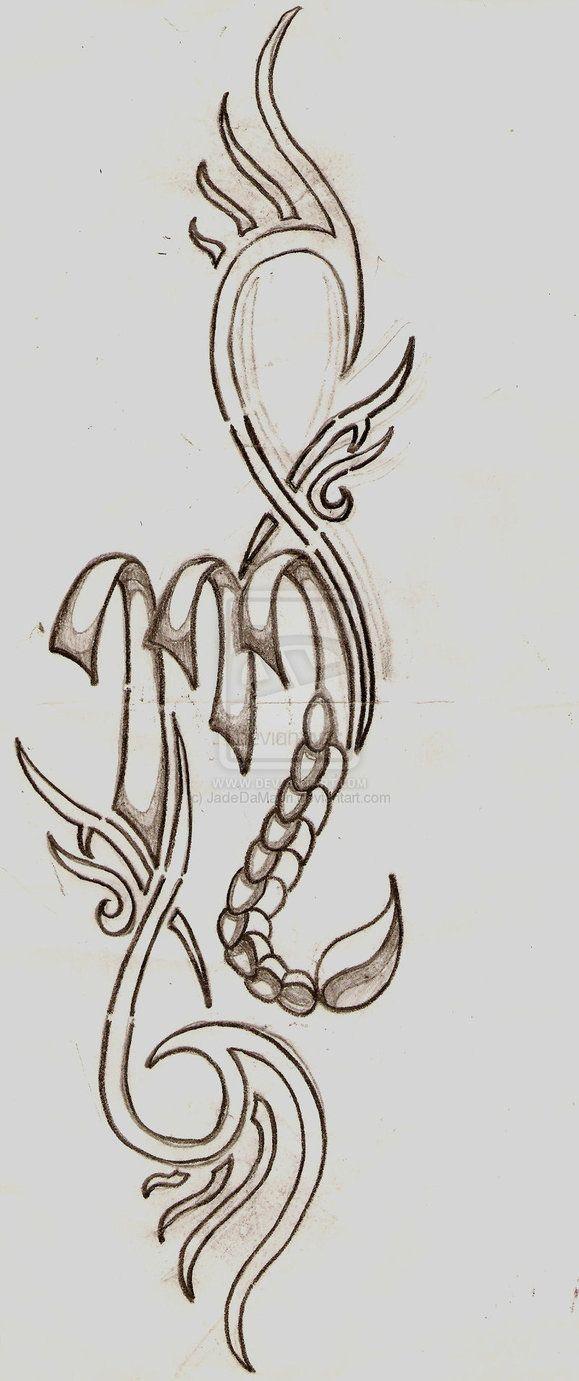 Scorpio Sign by JadeDaMaori Tatoo tribales Pinterest Tattoos