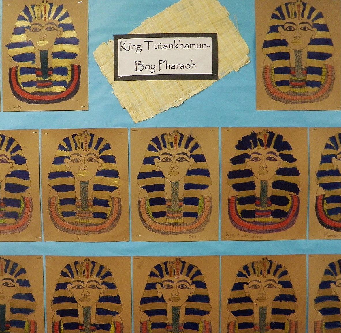 First Grade Ancient Egypt Art Project