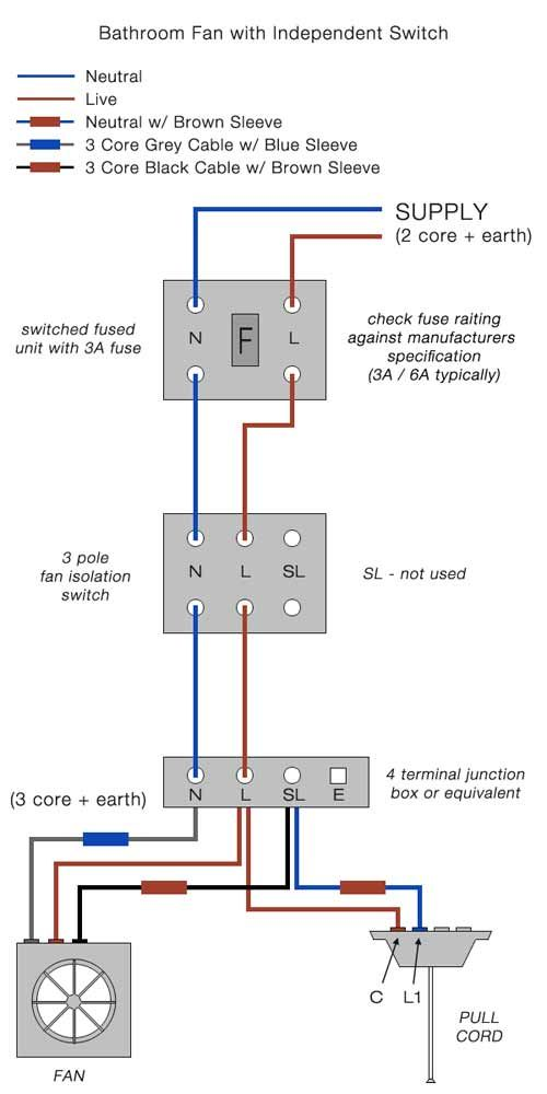 wiring diagram for bathroom fan and light switch wiring diagram center Home Light Wiring Diagram