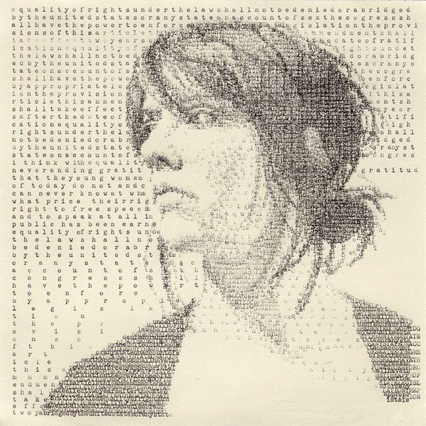Schreibmaschinenkunst von  Leslie Nichols