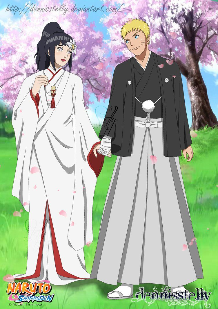 Naruhina Wedding Lineart Colored By Dennisstelly On Deviantart Naruto Cute Naruto Shippuden Anime Naruhina