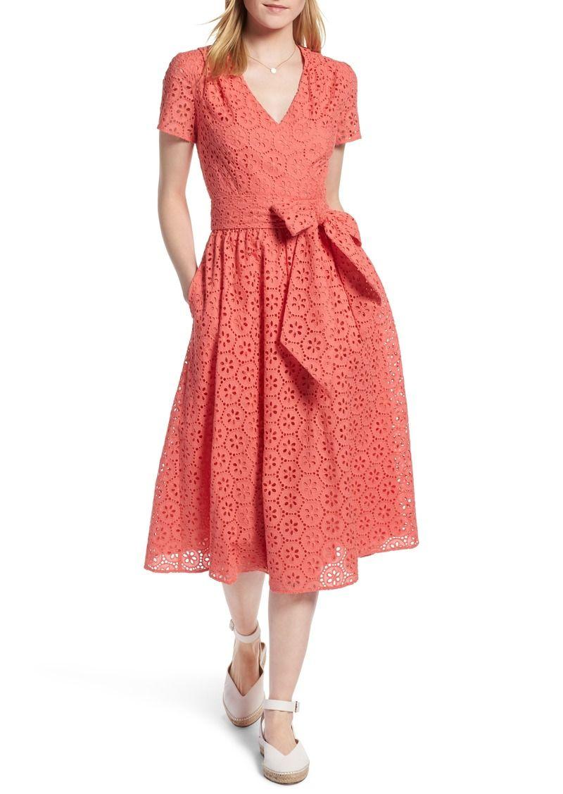 Cotton Eyelet Short Sleeve Dress