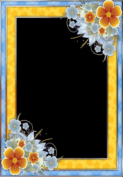 printable flower border paper