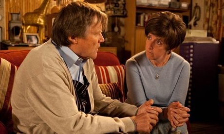 Coronation Street: Hayley and Roy Cropper. Photograph: ITV