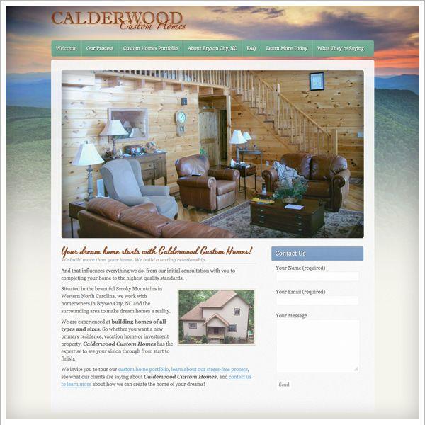 Website Calderwood Custom Homes Calderwoodcustomhomes Com Design Development By Emergent Interactive Website Design Company Marketing Services Custom Homes