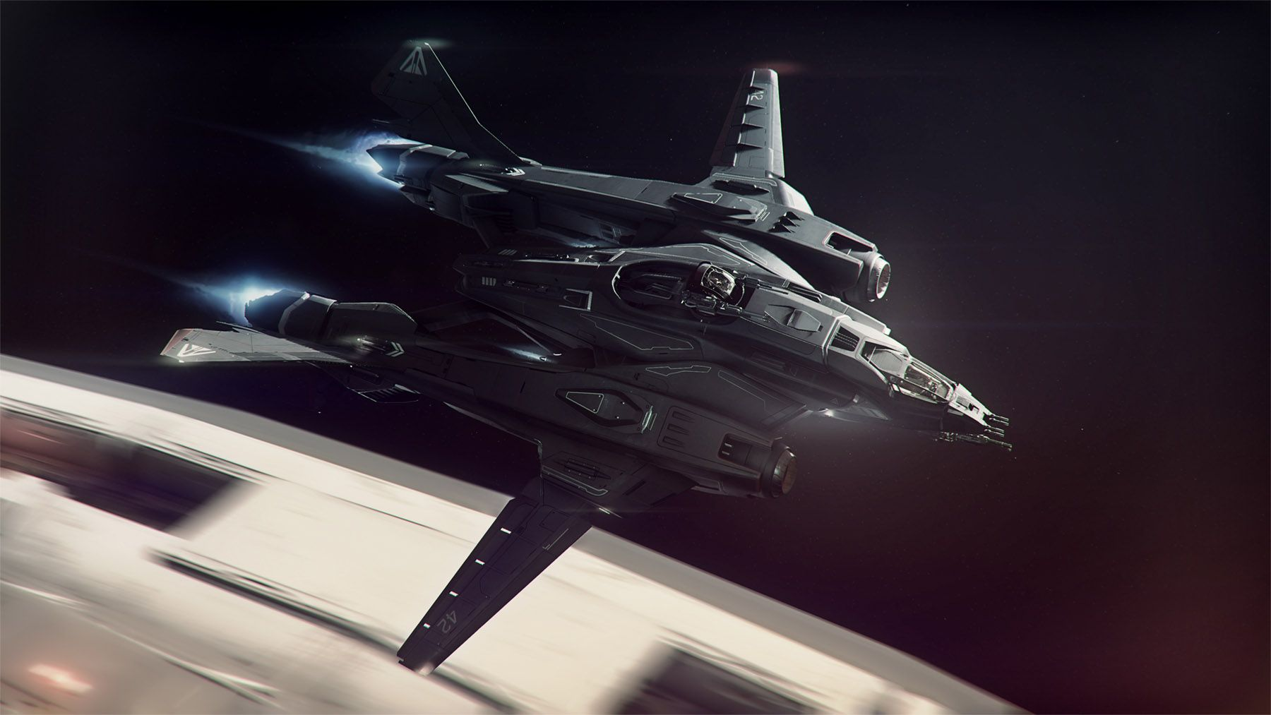 Black themed spaceship conceptual artwork and wallpapers 1 design - Spaceship Design Concept Ships Concept Art