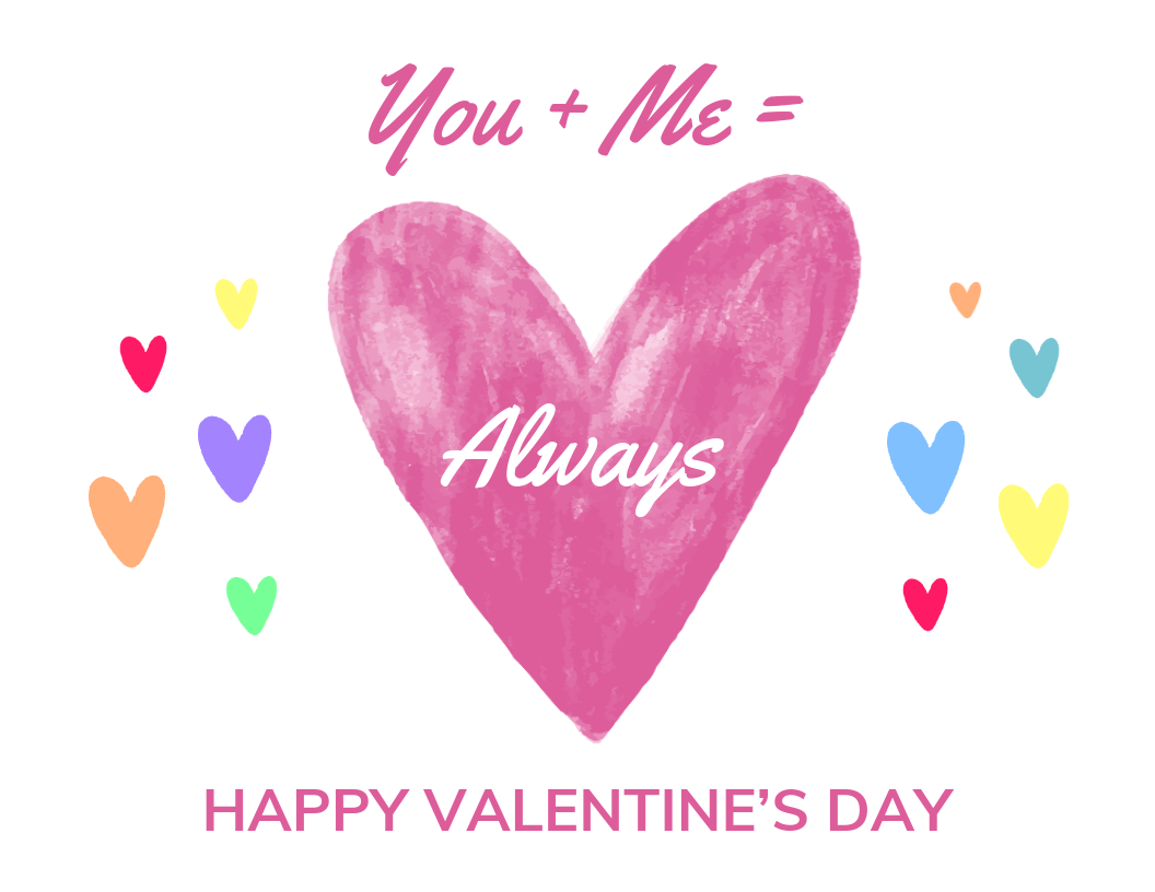You And Me Valentine S Day Card Template Valentines Day Card Templates Happy Valentines Day Valentine Heart Card