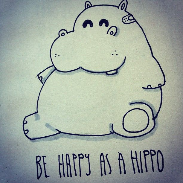 its friday, be happy as a hippo #sketch #eyesores ...
