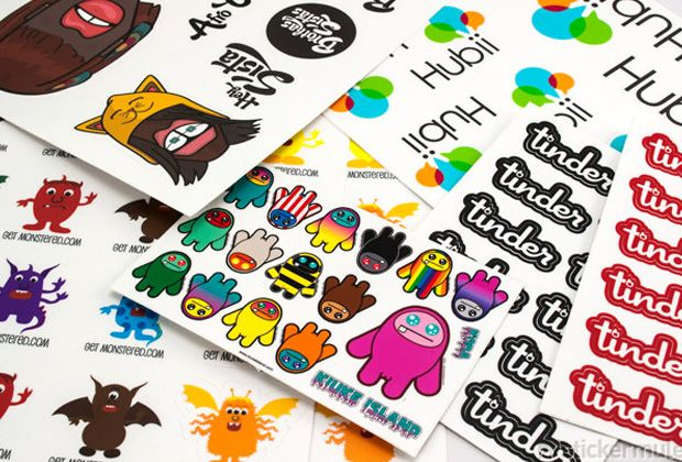 Buy as few as 10 custom vinyl sticker sheets using your design for just 34