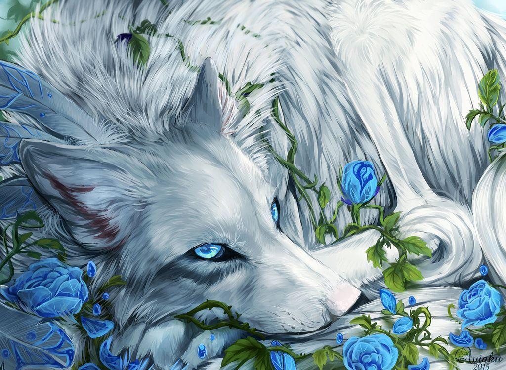 Волки и цветы картинки