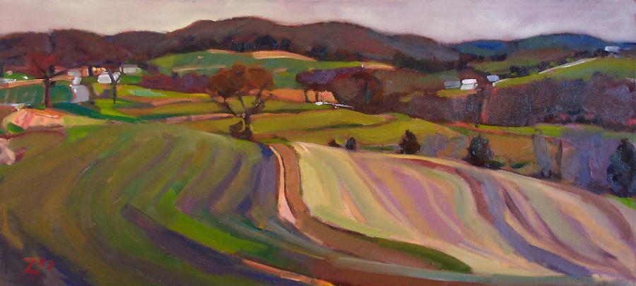 Evening at Howard Farm  by Zak Barnes