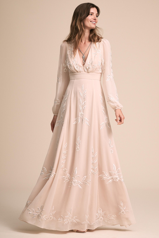 Bhldnus belize dress in champagne wedding dress pinterest
