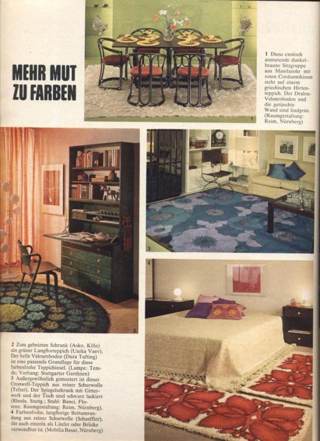 Mobilia Nürnberg 1970 burda moden 1970 retro advertising