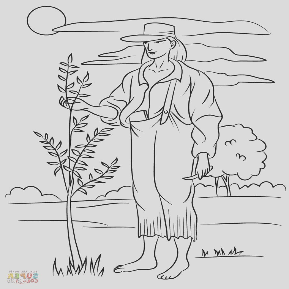 29 Beautiful Photography Of Johnny Appleseed Coloring Sheet in