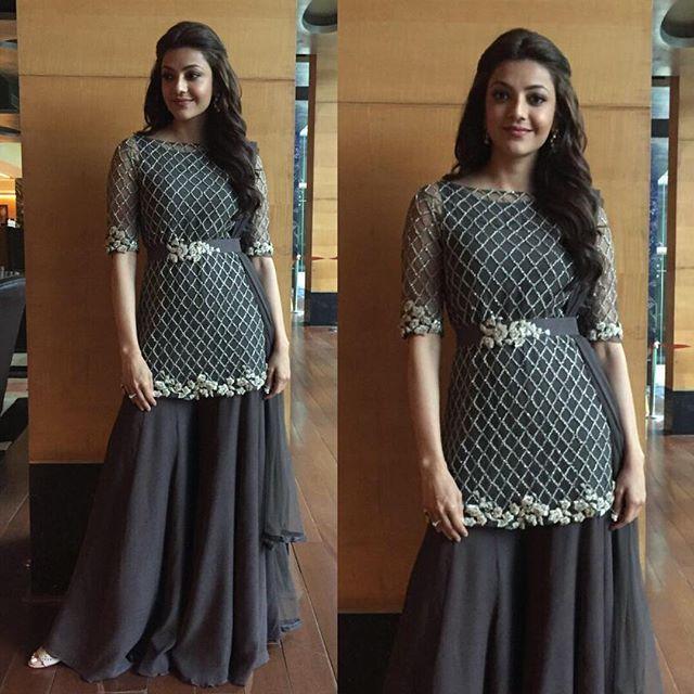 #GetTheLook: Actress @KajalAggarwalOfficial in a #RidhiMehra bugle-beads embellished kurta sharara from our Pre-Fall 2016 collection, ELIXIR!  . To shop this outfit, email us at shop@ridhimehra.com or call us at +919818072244 . #KajalAggarwal #Jumpsuit #CelebrityStyle #Elixir #PF16 #NewCollection #IndianFashion #WomensFashion #WomensWear #Trousseau #Designer #Wedding #IndianWeddings #Love #Shopping #Delhi #Mumbai #Bangalore #Chennai #Kolkata #Hyderabad #India #Dubai #Kuwait #Jakarta