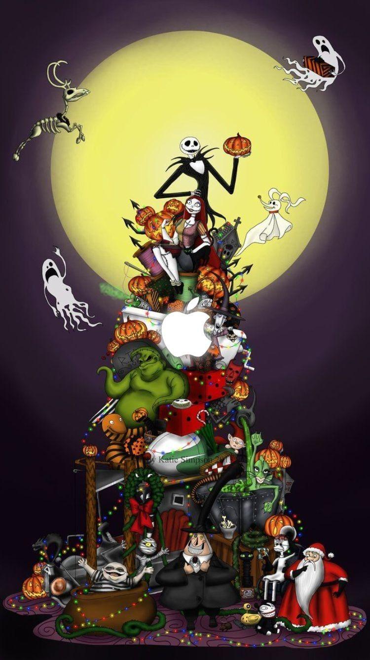 Halloween Iphone Wallpapers Nightmare Before Christmas Wallpaper