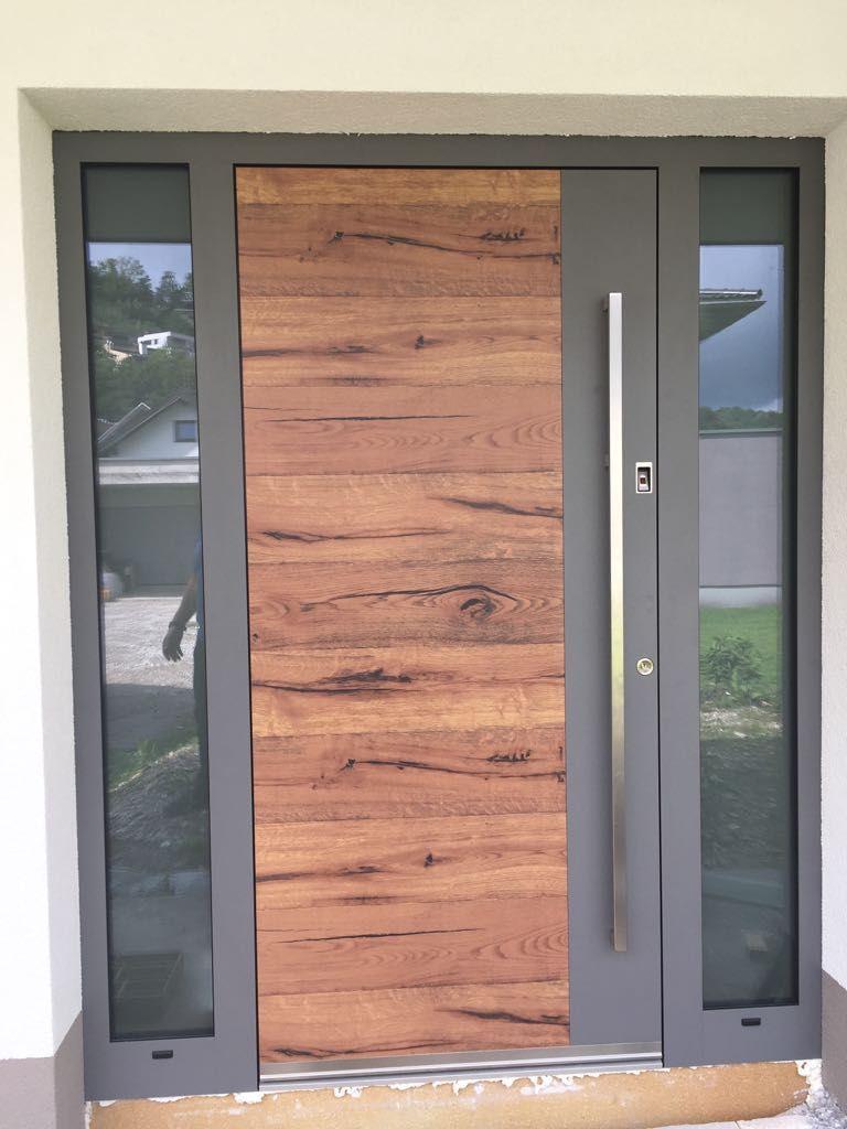 Alu-Haustüre Holz-look