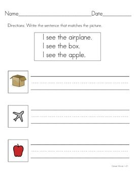 these worksheets are used to practice writing sentences using edmark words 1 74 in level 1. Black Bedroom Furniture Sets. Home Design Ideas
