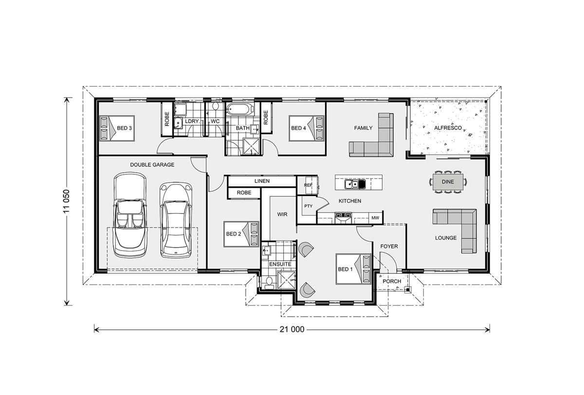 Rothbury 208 - Estate, Home Designs in | GJ Gardner Homes | House ...