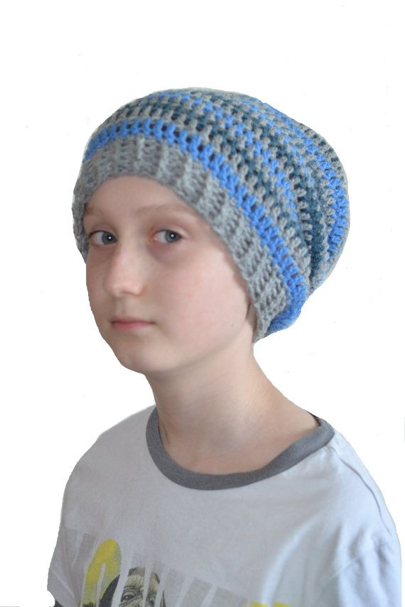 Boys Slouch Hat Teens Crochet Slouchy Beanie от slouchiehats  0f0dd5d01b0