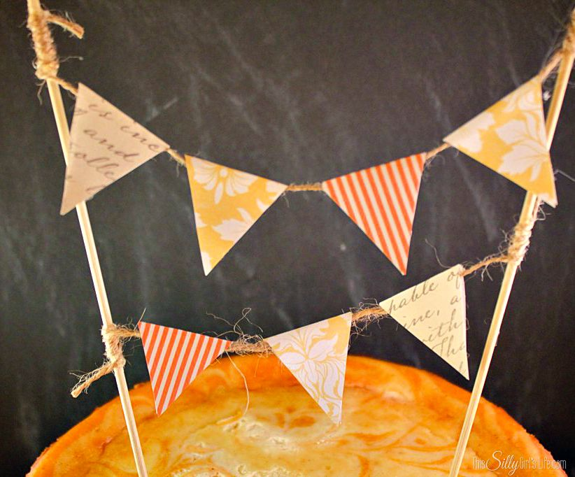 DIY Cake Topper Bunting tutorial from http://ThisSillyGirlsLife.com #DIY #CakeTopper #Bunting
