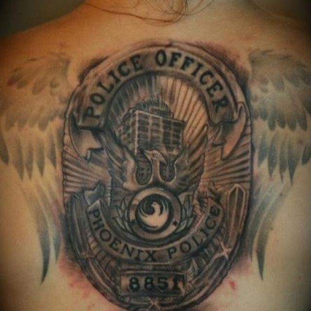This is my tattoo i got in memory of my husband who passed for Law enforcement memorial tattoo