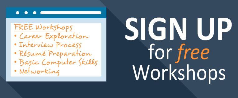 Sign up for a free workshop CareerEducationJonathanWalkerKATC