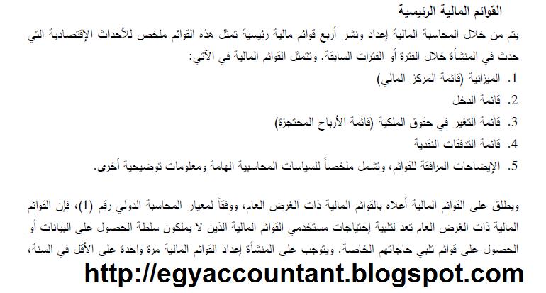 القوائم الماليه طبقا للمعيار الدولي Ifrs 1 Math Accounting Blog