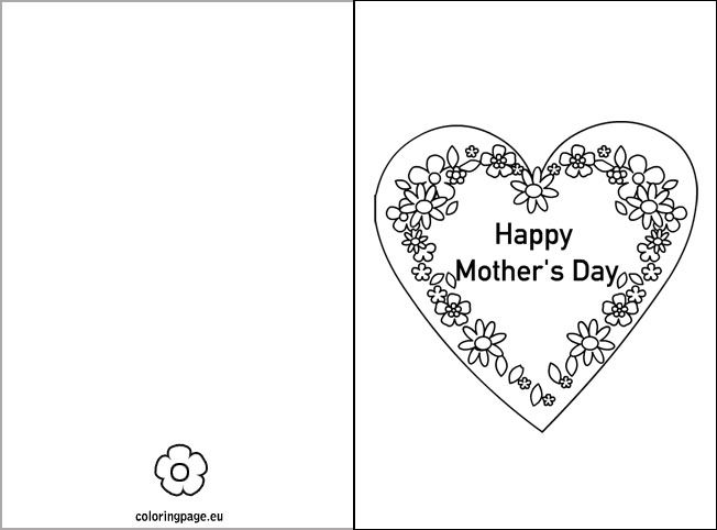 Happy Motheru0027s Day Card 1st grade fun! Pinterest Happy - mothers day card template