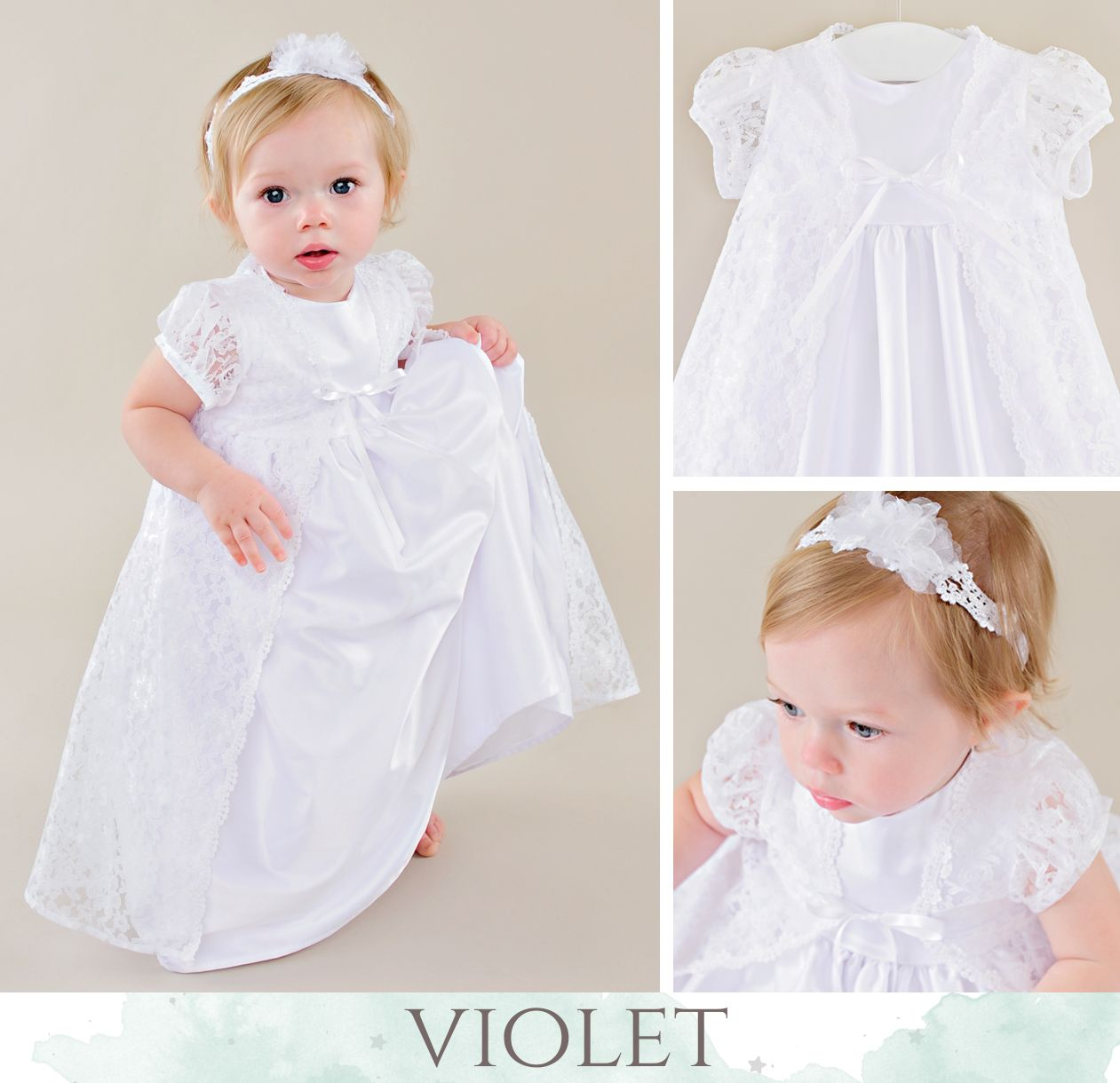 6cf8fd0e8dc7 Violet LDS Blessing Dress from | LDS Blessing Dresses | Blessing ...