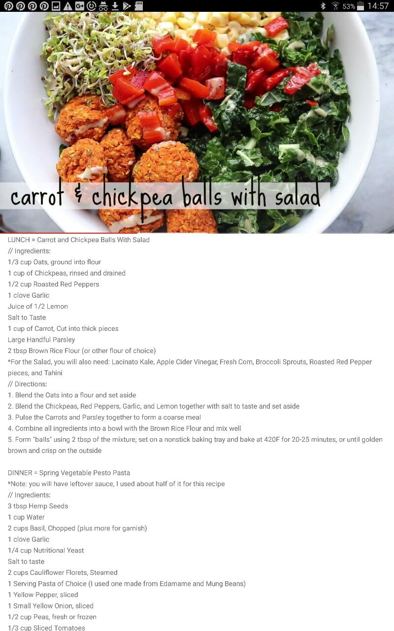 Carrot Chickpea Balls Recipe From Catlin Shoemakers