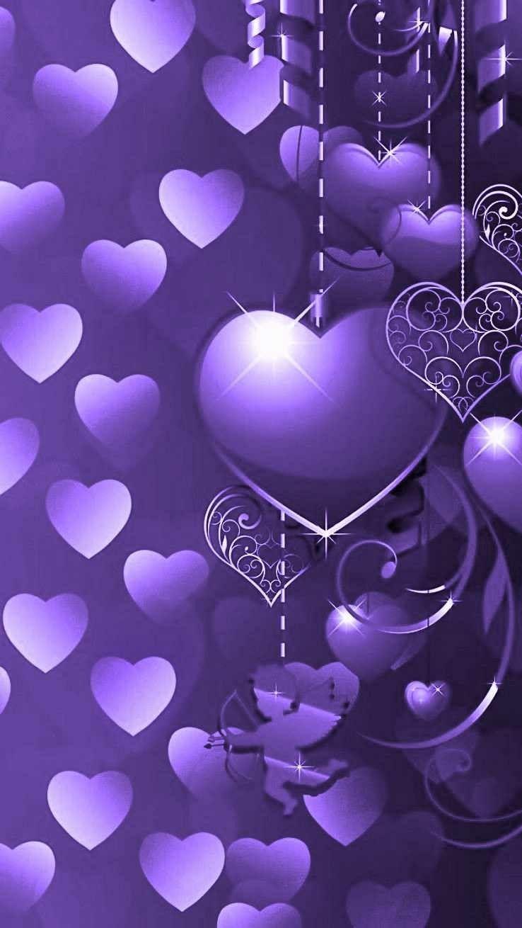 Wallpaper By Artist Unknown Valentines Wallpaper Heart Wallpaper Dark Purple Wallpaper