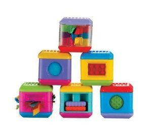 Fisher Price Peek A Blocks Touch Sensations Blocks Have 4 Toys