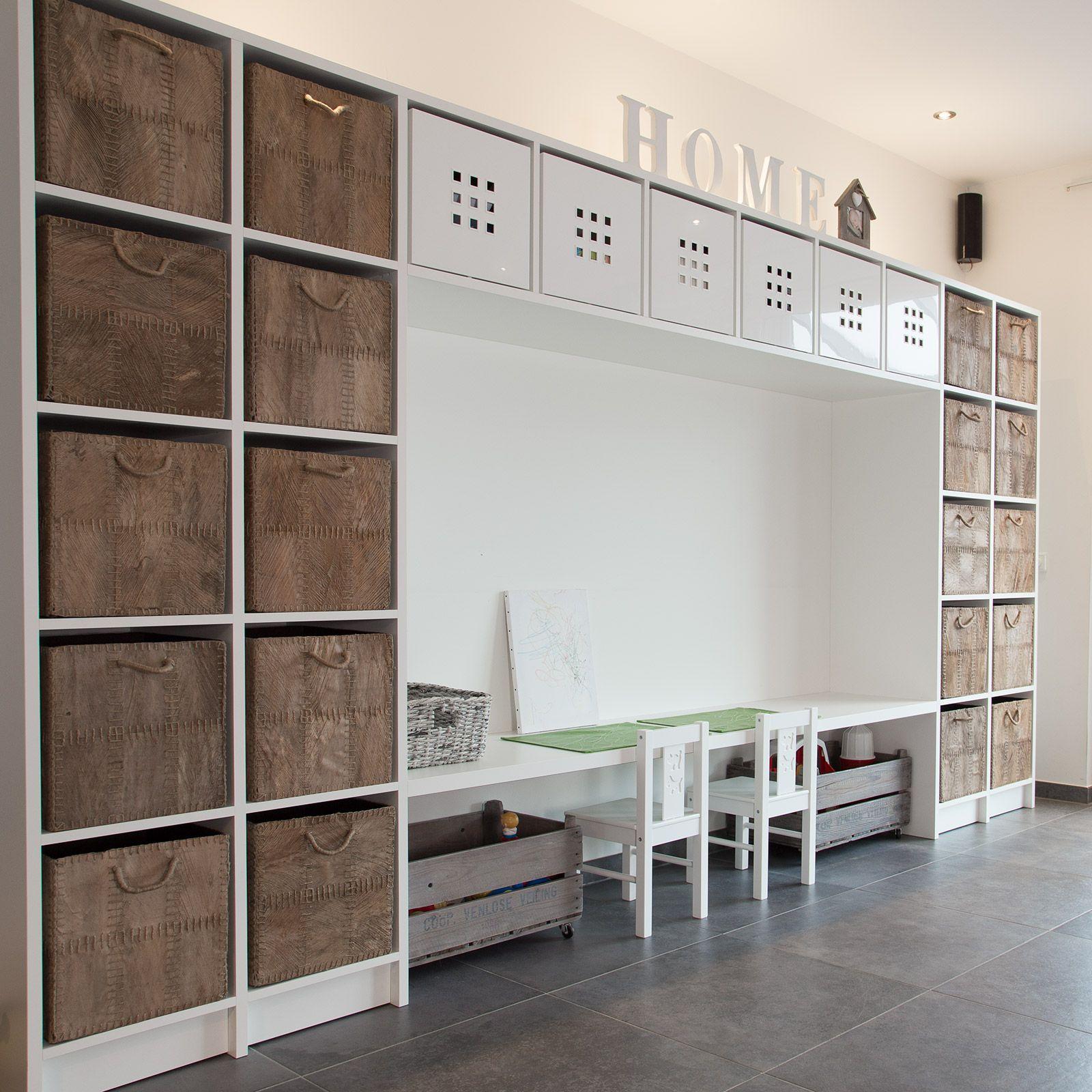 Bergkast + werkblad speelkamer - CVH Design - Maatinterieur voor wonen en werken ...