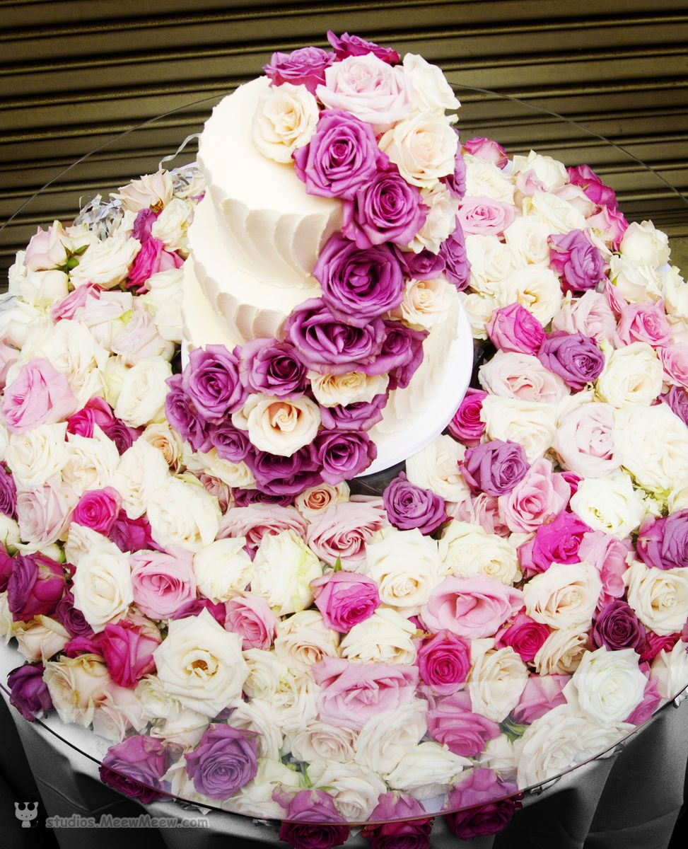 wedding cake with a thousand roses http://studios.MeewMeew.com ...