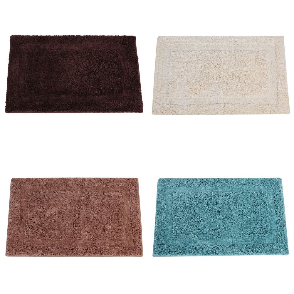 Comfortable 80x50cm Microfiber Co Wool Square Anti Skid Bath Mat Good Absorbs Water Toilet