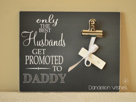 Baby Reveal Idea for NEW Dad First Father/'s Day Gift Idea {Best Husbands.. Pregnancy Announcement Idea Promoted to Daddy} Photo Frame